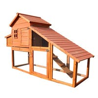 Lovupet Extra-large Chicken Poultry Coop, Hen House and Rabbit Hutch