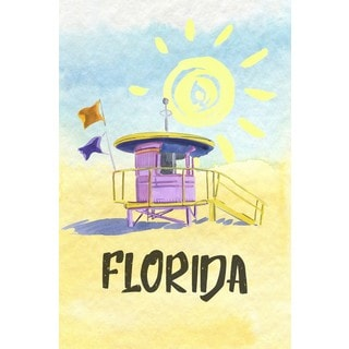 Marmont Hill - 'Always Sunny in Florida' Painting Print on Wrapped Canvas