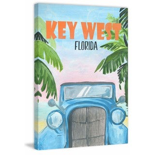 Marmont Hill - 'Key West Poster' Painting Print on Wrapped Canvas