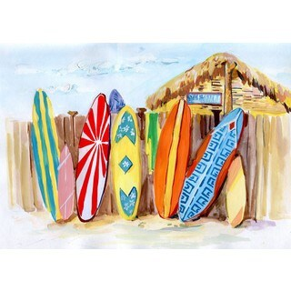 Marmont Hill - 'Surfer's Paradise' Painting Print on Wrapped Canvas