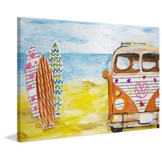Marmont Hill - 'Beach Bus' Painting Print on Wrapped Canvas