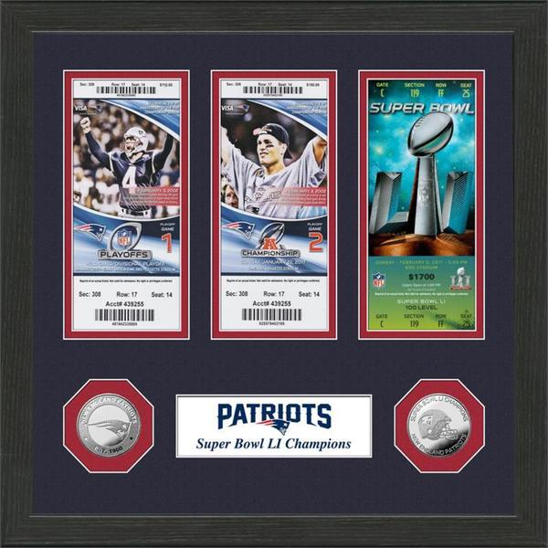 "New England Patriots ""Road to Super Bowl 51 Title"" Ticket Collection"