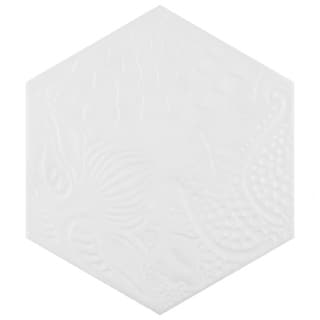 SomerTile 8.625x9.875-inch Cornet Hex White Porcelain Floor and Wall Tile (25/Case, 11.19 sqft.)