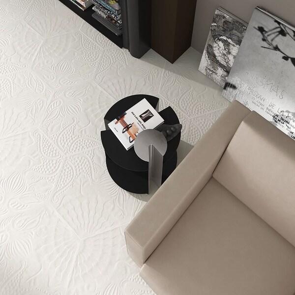 """SomerTile 8.625x9.875-inch Cornet Hex White Porcelain Floor and Wall Tile (25 tiles/11.19 sqft.) - 8.6"""" x 8.6"""""""