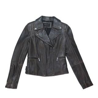 BCBGMaxazria Women's Violet Leather Jacket