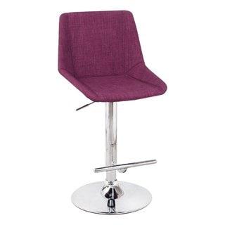 Adeco Purple Adjustable barstools