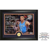 "Russell Westbrook ""Quote"" Bronze Coin Photo Mint"