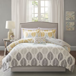 Madison Park Essentials Pelham Bay Yellow/Aqua Complete Comforter and Cotton Sheet Set|https://ak1.ostkcdn.com/images/products/14387619/P20959321.jpg?impolicy=medium