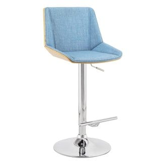 Adeco Adjustable Blue Barstool