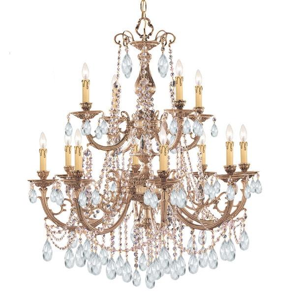 Crystorama etta collection 12 light olde brasscrystal chandelier crystorama etta collection 12 light olde brasscrystal chandelier mozeypictures Gallery