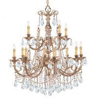 Crystorama Etta Collection 12-light Olde Brass/Crystal Chandelier