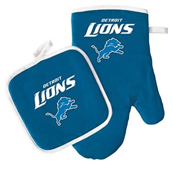 NFL Detriot Lions Sports Team Logo Oven Mitt and Pot Holder