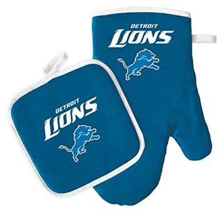 NFL Detriot Lions Sports Team Logo Oven Mitt and Pot Holder