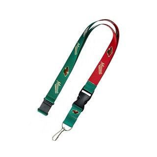 NHL Minnesota Wild Sports Team Logo Reversible Keychain Badge Holder Lanyard