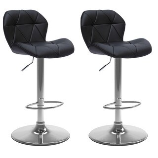CorLiving Adjustable Bonded Leather Barstool (Set of 2)