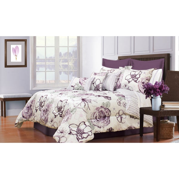 Angelique Printed 7 Piece Comforter Set On Free Shipping Today 14387714