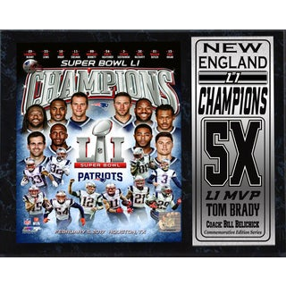 Super Bowl 51 Champions New England Patriots 12 x 15 Commemorative Plaque