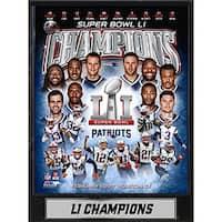 Super Bowl 51 Champion New England Patriots 9x12 Plaque
