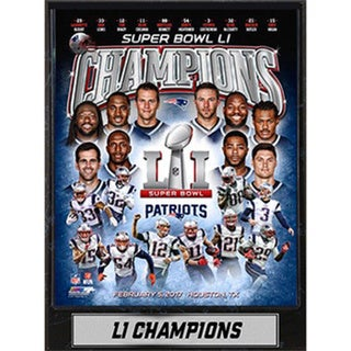 Super Bowl 51 Champion New England Patriots 9x12 Plaque