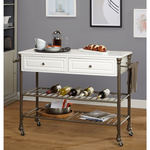 Simple Kitchen Islands: Shop Simple Living Clement Rolling Kitchen Island