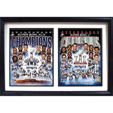 Super Bowl 51 Champion New England Patriots Wall Hanging
