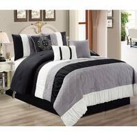 Canterbury Black/Grey 7-piece Comforter Set