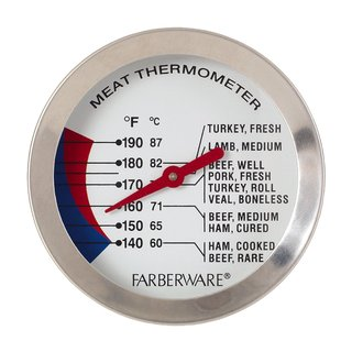 Farberware Silver Stainless Steel Non-stick Meat Thermometer
