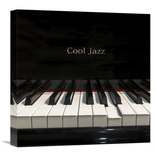 Global Gallery Hill 'Cool Jazz' Stretched Canvas Artwork
