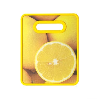 Farberware Lemon Plastic Nonslip Cutting Board