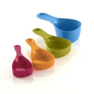 Reo Multicolored Plastic Measuring Cups (Pack of 4)