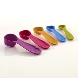Reo Multicolored Plastic Nesting Measuring Spoons (Set of 5)