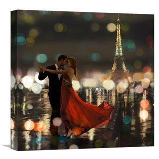 Global Gallery Loumer U0027Midnight In Parisu0027 Stretched Canvas Artwork