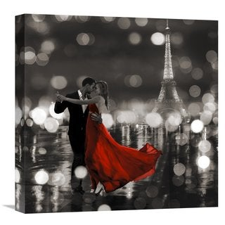 Global Gallery Loumer 'Midnight in Paris (BW)' Stretched Canvas Artwork