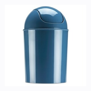 Umbra Mist Blue 1.5 Gallon Mini Waste Can with Swing Lid