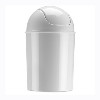 Umbra Mini Waste Can, 1.25 Gallon with Swing Lid, White