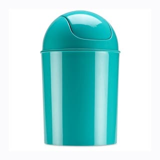 Umbra Mini Waste Can, 1-1/2 Gallon with Swing Lid, Surf Blue|https://ak1.ostkcdn.com/images/products/14387900/P20959533.jpg?impolicy=medium