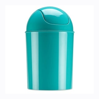 Umbra Mini Waste Can, 1-1/2 Gallon with Swing Lid, Surf Blue