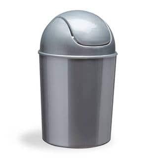 Umbra Silver 1.5 gallon Mini Swing Lid Waste Can