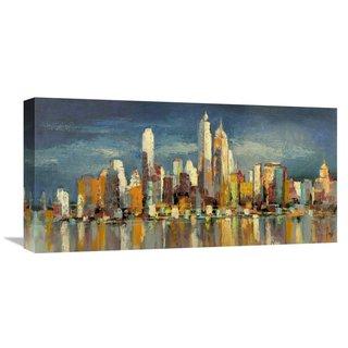 Global Gallery Florio 'New York, riflessi del mattino' Stretched Canvas Artwork