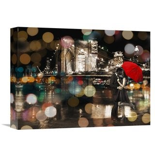 Global Gallery Loumer 'A Kiss in the Night' Stretched Canvas Artwork