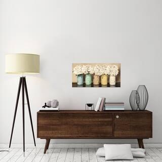 The Gray Barn Thomlinson 'Hydrangeas in Mason Jars' Stretched Canvas Artwork