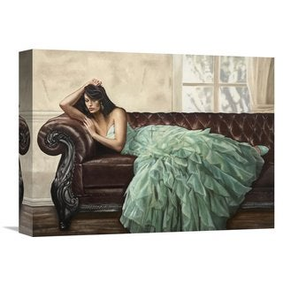 Global Gallery Ciccone 'Aquamarine Beauty' Stretched Canvas Artwork