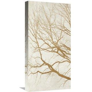 Global Gallery Aprile 'Golden Tree I' Stretched Canvas Artwork