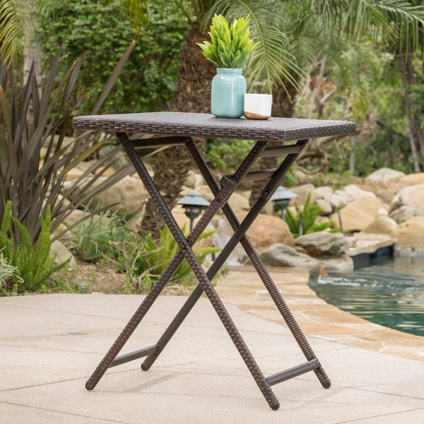 Outdoor Patio Table Sale: Shop Margarita Outdoor Wicker Bar Table By Christopher