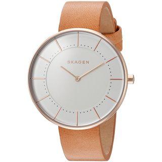 Skagen Women's SKW2558 'Gitte' Brown Leather Watch