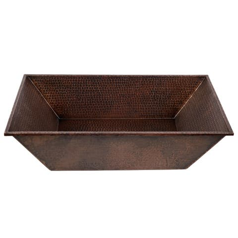 "Handmade 20"" Vessel Hammered Copper Sink (Mexico)"
