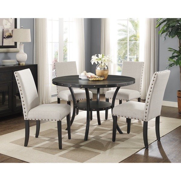 Biony Nailhead Trim Fabric Dining Chairs (Set Of 2)   Free Shipping Today    Overstock.com   20959803