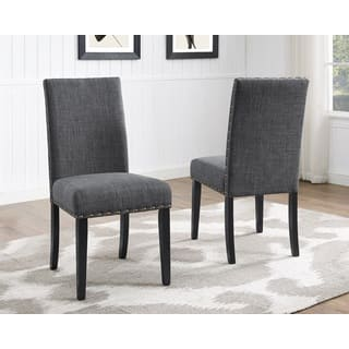Biony Nailhead trim Fabric Dining Chairs  Set of 2. Contemporary Dining Room   Kitchen Chairs For Less   Overstock com