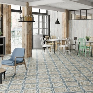 Link to SomerTile 17.625x17.625-inch Almeria Ceramic Floor and Wall Tile (5 tiles/11.02 sqft.) Similar Items in Tile
