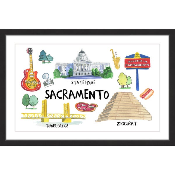 Marmont Hill - 'Chic Sacramento' Framed Painting Print